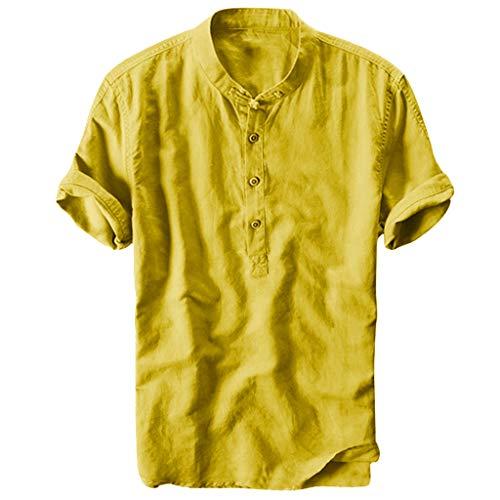 Moonuy Summer Sommer große größen Tank Tops Damen Sommer Herren Sommer Tops Cool und dünn atmungsaktive Kragen hängen gefärbt Gradient Cotton Shirt