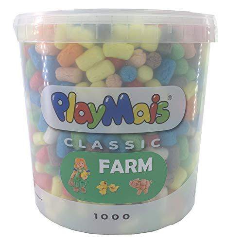 PlayMais Basic 1000 Farm Bastelset für Kinder ab 3 Jahren | Basteleimer mit über 1000 Basteln | Natürliches Spielzeug | Fördert Kreativität & Motorik | Geschenk für Mädchen & Jungen