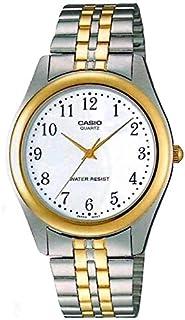 ساعة كاسيو رجالية MTP-1129G (فضي وذهبي)