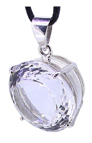 budawi® - Bergkristall Silber Anhänger Kettenanhänger facettiert 925 Silberanhänger