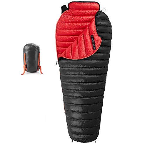 Mummy slaapzak LIUSIYU 95% ganzenzool, 3-4 seizoen, -20 graden C Ultralight slaapzakken voor rugzak en ideaal voor kamperen, wandelen