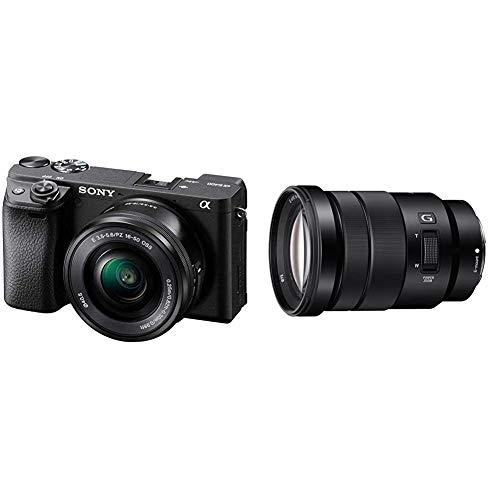 Sony Alpha 6400Cámara Evil APS-C con Objetivo Zoom Potente 16-50mm f/3.5-5.6 (Enfoque automático rápido 0.02s, 24.2 + E PZ 18-105mm f/4.0 Gaps-C, Zoom Eléctrico (SEL18105G)