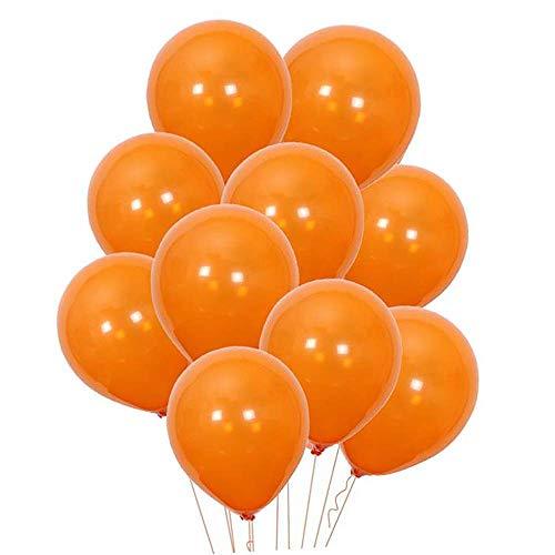 """PARTY GO 100 Palloncini Arancio/Arancione, 26cm, 10"""", ad Elio, per Prima Comunione Femmina, Compleanno, Matrimonio Anniversario, Battesimo, Bimba, Laurea, Qualsiasi Festa."""
