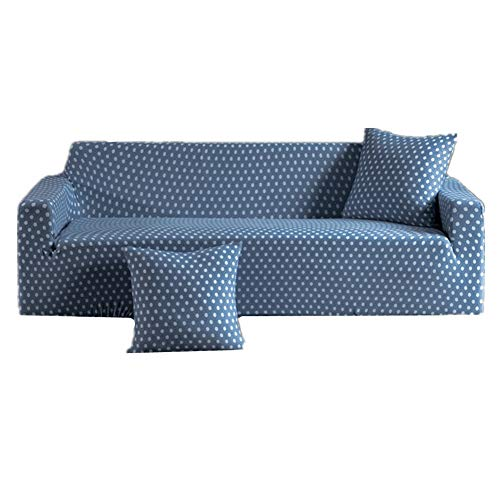 KUOZEN Funda Sofa Relax Funda de sofá Fundas para Sillas Sofá de Ahorro Sofá Cubierta de Cama Sofá de Terciopelo Cubre Sofá Funda de Almohada 145-185,Deep Blue