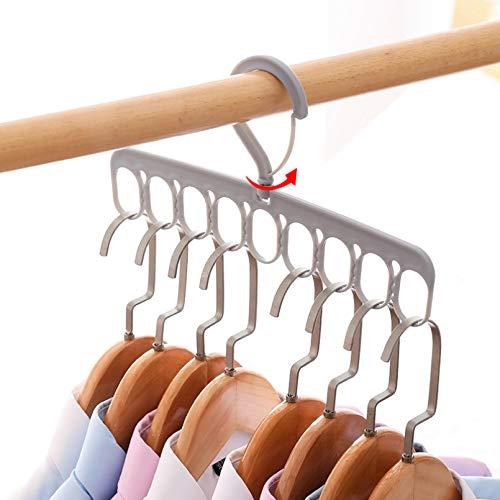 TYOLOMZ Kleiderbügel, 9 Löcher, platzsparend, langlebig, für Zuhause, Schlafsaal, Studenten