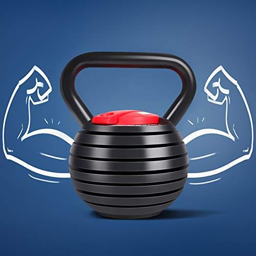 Kettlebell Weight Set, TopMade Cast Iron Adjustable Kettlebell Set Strength Training Exercise 10lb-40lb Kettle Ball Handle Grip Free Weightlifting Kettlebel for Men Women Workout Home Gym Fitness Core