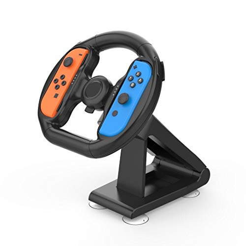 Skywin Joy Pad Steering Wheel for Nintendo Switch - Joy Pad Wheel Compatible with Mario Kart Deluxe 8, Great Size for Teens and Adults - Racing Wheel for Nintendo Switch