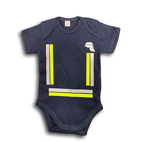 Kurzärmliger Baby Body im Feuerwehr Design 62-68