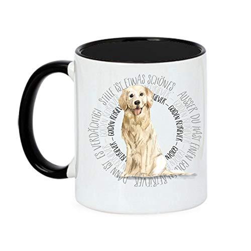 Siviwonder Tasse Circle - GOLDEN Retriever - Watercolor Dogs Hundemotiv Fun Kaffeebecher
