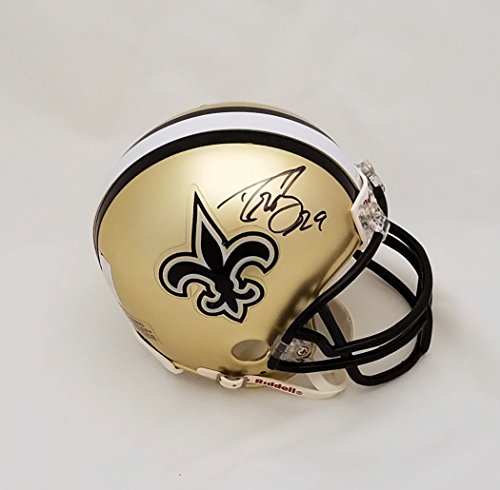 Drew Brees New Orleans Saints NFL Hand Signed Mini Football Helmet
