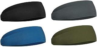 Holmeey Sporthoofdbanden, rekbare vochtafvoerende uniseks hoofdband, elastische vochtafvoerende haarbanden voor hardlopen,...