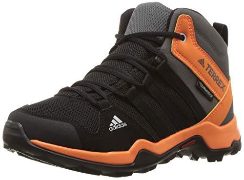adidas outdoor Unisex-Kid's Terrex AX2R MID CP K, Black/Black/hi-res Orange, 12.5K Youth US Little Kid