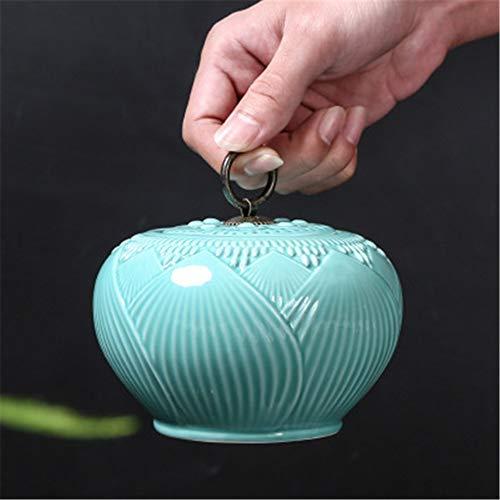 FFDGHB Keramikbehälter, Süßigkeitsdosen, Keramikdosen, Teedosen, Schließfächer, Variable Teedosen, feuchtigkeitsbeständige versiegelte Dosen (3 Stück) 13 * 8,8 cm