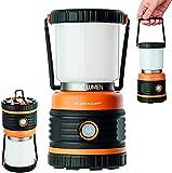 Lámpara de camping Dunlop LED para exteriores, 1000 lúmenes, 4 modos de luz, regulable, resistente a los golpes, a los arañazos y a las salpicaduras de agua, IP44 46 SMD Standby LED (naranja/negro)