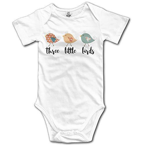 Artspower Boys Girls Cute Three Little Birds Funny Baby Onesie Bodysuit