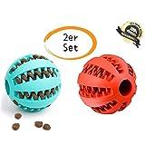 Hundeball ║ Zahnpflege-Funktion ║ Robuster Kauball ║ 2er Pack ║ Mit Minze ║ Kauspielzeug...