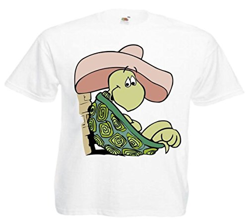 Fun T-shirt schildpad in Sombrero cartoon fun fun cartoon cultfolie