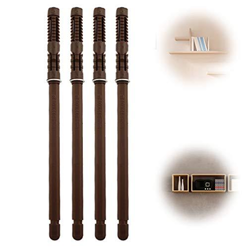 WILK Heavy Duty drijvende plank beugel (4 stuks) – massief staal blinde plank ondersteunt - verborgen beugels voor drijvende houten planken (bruin)