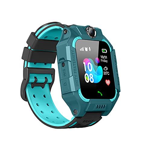 SmartWatch for Kids LBS Tracker - IP67 Waterproof Smartwatches with SOS Voice Chat Camera Flashlight Alarm Clock Digital Wrist Watch Smartwatch 3-12 Girls Boys Birthday Gifts (Waterproof Green)