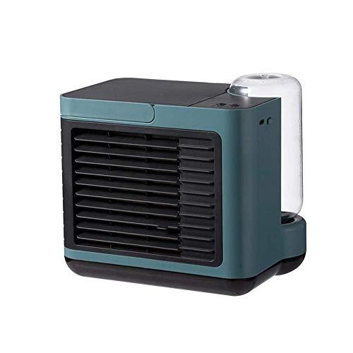 HaoLi Refrigerador de Iones Negativos USB Recargable Mini pequeño Aire Acondicionado de Escritorio para el hogar con Ventilador de refrigeración por Agua