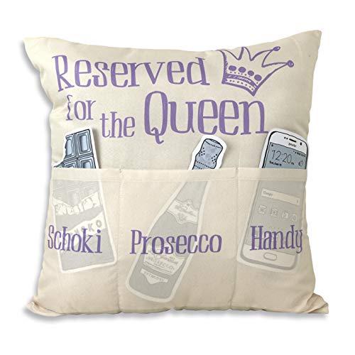 Hergo Creation Sofahelden Kissen Reserved for The Queen