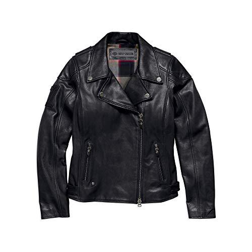 Harley-Davidson Women's Alameda Heavy-Weight Leather Biker Jacket 98019-18VW (Medium) Black