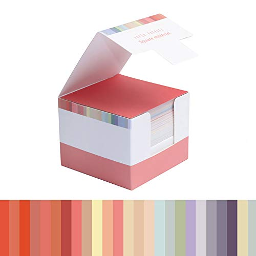 Non-Sticky Notes Blank Memo Bright Colorful Note Cube Not Sticky Origami Paper 150 Sheets/Pack (25 Colors/Pack) (Pink)