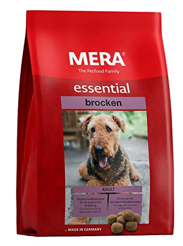 MERA essential Hundefutter > Brocken < Für ausgewachsene Hunde - Geflügel Trockenfutter mit extra großen Kroketten - Ohne Zucker & Konservierungsstoffe (12,5 kg)