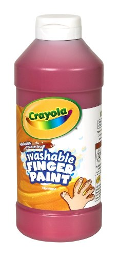 Crayola Fingerpaint Red 32 Ounces Washable Kids Paint Ages 3 Red