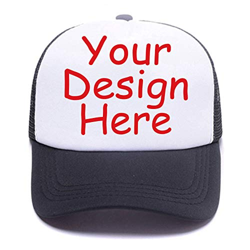 Men Womens Custom Hat Graphic Fashion Trucker Hats Adjustable Baseball Cap. Black
