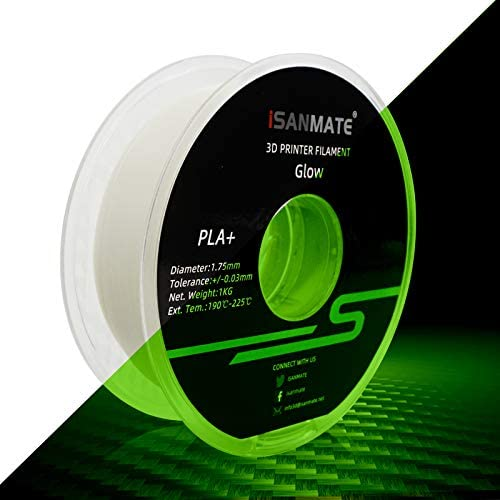 3D Printer Filament PLA Filament Glow in The Dark 1 75mm Dimensional Accuracy 0 03 mm 1 kg Spool product image