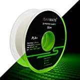 3D Printer Filament, PLA Filament Glow in The Dark, 1.75mm Dimensional Accuracy +/- 0.03 mm, 1 kg Spool