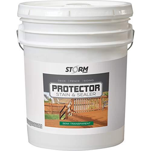 Storm Protector Penetrating Sealer & Stain Protector - Deck Protector, Fence Protector, Mahogany Stain, Redwood Stain, 5 Gallon (Cedartone)