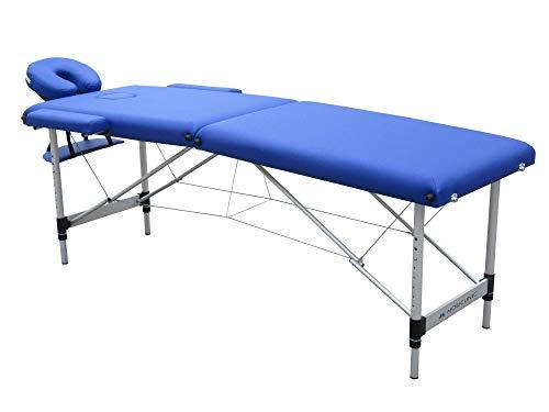Mobiclinic, Camilla Fisioterapia Plegable, CA-01 Light, Reposacabezas, Aluminio y polipiel, 186x60 cm, Portátil, Azul ⭐