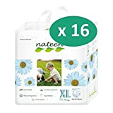 Nateen Baby Pull Ups XL - 16 paquetes de 20 protectores
