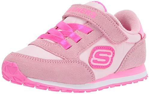 Skechers 82256N PKHP Mädchen Lauflernschuh aus Lederimitat Textilausstattung, Groesse 21, pink
