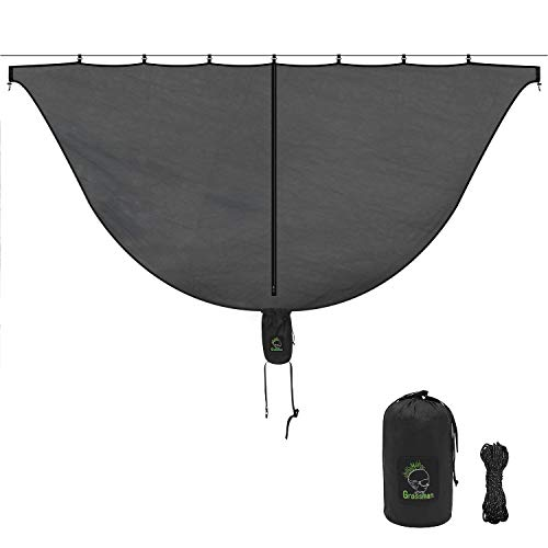 Grassman Hammock Bug Net, 9.4 x 4.6 Large Superfine Mesh Hammock Mosquito Net, Fits for All Single/Double Hammocks, Lightweight Bug Net for 360° Guardian Away From Insects