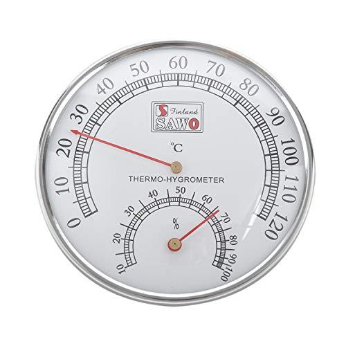 Cavis Sauna Thermometer Metall GEH?use Dampf Sauna Raum Thermometer Hygrometer Bad und Sauna Indoor Au?en Verwendet