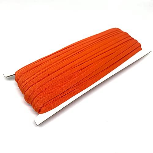 Orange Elastic String for Masks 20 Yards Elastic Bands for Sewing 1/4 inch Elastic Cord for Masks 5mm Elastic Stretchy Ear Tie Rope Handmade Elastic for Masks Making Mask DIY (Orange)