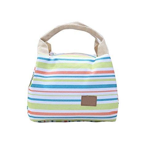Umily Pique-nique isotherme alimentaire stockage Zipper boîte fourre-tout Bento pochette sac à Lunch-Vert