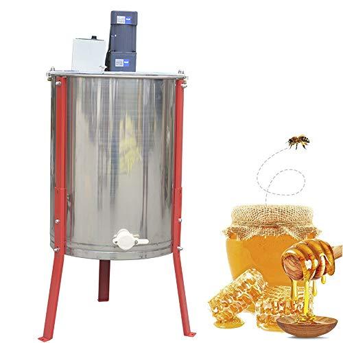 QXTT Honigschleuder Elektrisch 4 Waben Mit Deckel Honig Extraktor Schleuder Tangentialschleuder Honey Extractor Imker Und Bienenzüchter Zubehör