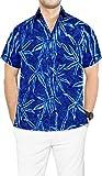 LA LEELA Hawaiano de Vacaciones de Camisa Partido del Macho de Trabajo Aloha Floral Formal de...