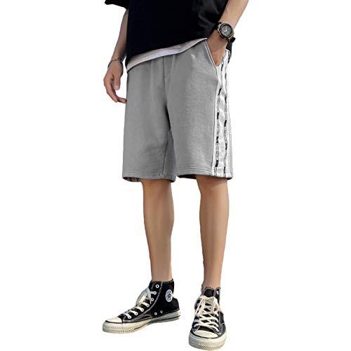Jubaton Pantaloni Casual da Uomo con Coulisse in Vita Elastica Pantaloni Sportivi da Corsa Fitness Pantaloni da Spiaggia Larghi e Sottili di Tendenza Estiva M