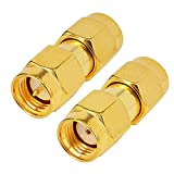 RF Coaxial Adapter SMA Male to RP SMA Male Female Pin Jumper Cable Connector for Audio FPV Antennas Radio...
