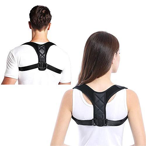 DOSMUNG Geradehalter zur Haltungskorrektur, Rückenstütze Rückentrainer Rückenbandage, Schultergurt Haltungstrainer Posture Corrector, Größenverstellbar für Nacken Rücken Schulterschmerzen - Unisex