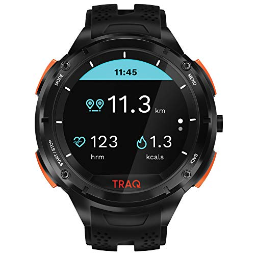 Traq Cardio Digital Clear Dial Unisex-Adult Watch-75001PP02