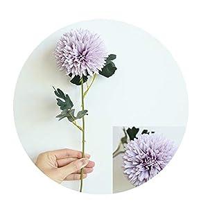 Sevem-D New Silk Dandelion Flower Ball Home Bedroom Table Decoration Fake Flower Wedding Hand Holding Flower,Light Purple