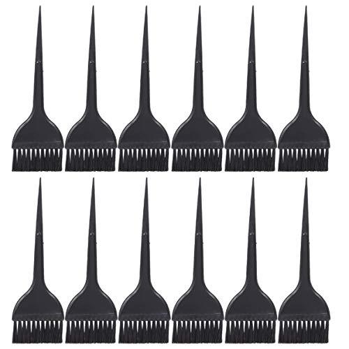 Solustre 24Pcs Ensemble de Pinceau de Teinture pour Les Cheveux Salon de Coiffure Point Culminant Brosse Balayage Brosse Brosse de Teinte de Cheveux Salon de Coiffure Kit de Coloration