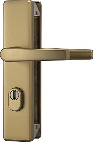 ABUS Tür-Schutzbeschlag KLZS714 F4 mit Zylinderschutz & beidseitigem Drücker eckig, 08420