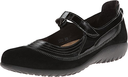 Naot Women's Kirei shoes, Black, 8-8.5 Wide